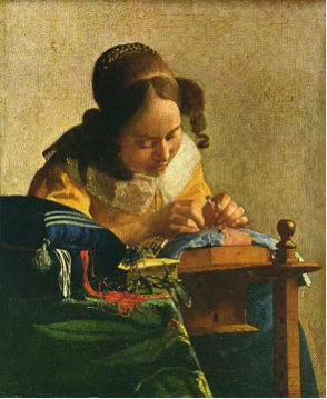 La Dentellière, Johannes Vermeer