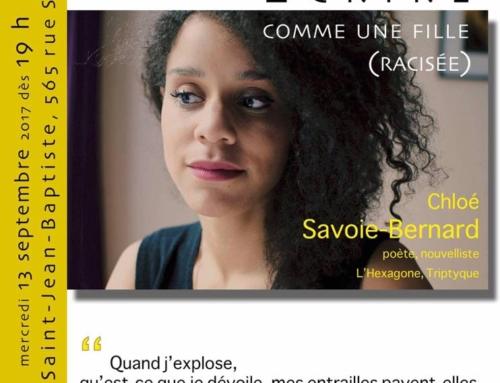 « Écrire comme une fille (racisée) » : Conférence de Chloé Savoie-Bernard