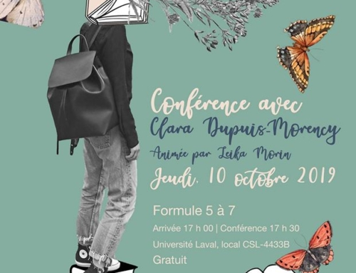 Conférence avec Clara Dupuis-Morency